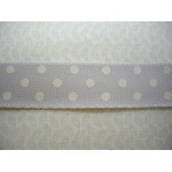 Cinta Dotty Ribbon Cream crema puntos blancos 3071