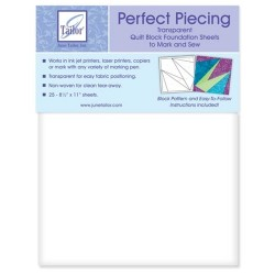 June Taylor perfect piecing paper paquete 25 hojas