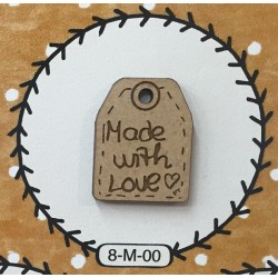 PT Boton madera 8-M-00 Made with Love