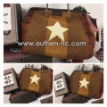 Authentic Bolso Star Kit: patron + telas + asa cuero de 40 cm (boquilla 40x10 cm)