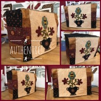Authentic Kit Funda Maquina coser: patron + telas (Series 2 y 3 Bernina)