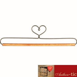 Percha Corazon barra madera 12.70 cm