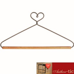 Percha Corazon barra madera 19 cm
