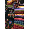 Henry Glass Folk Art Flannel Bundle 17 FQ + Panel