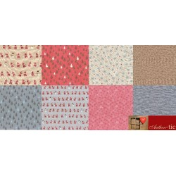 Lecien merry Taupe Bundle 8 Fat Quarters