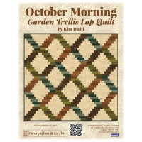 Henry Glass October Morning  by Kim Diehl - Quilt Garden Trellis Lap Quilt