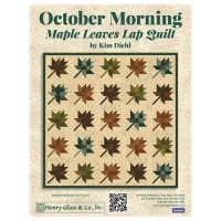 Henry Glass October Morning  by Kim Diehl - Quilt Maple Leaves Lap Quilt