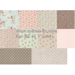 Moda Rue 1800 by 3 Sisters Bundle 10 FQ