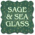 Sage and Sea Glass by Kim Diehl