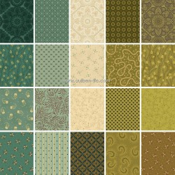 Henry Sage and Sea Glass by Kim Diehl Bundle 17 Fat Quarters