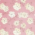Henry Glass Quilting Bee flores fondo rosa 5731-22
