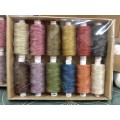 Valdani 50 wt Vintage Hues Quilting Cotton 500m x12 colores